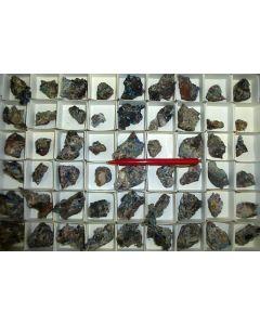 Caledonite, Linarite xx, etc., Tonopah-Belmont Mine (AZ), 1 flat