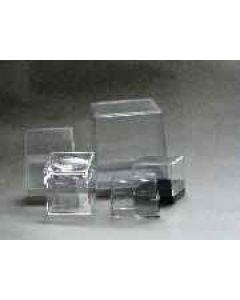 acrylic box, 081 x 081 x 039 mm, white base, 1 piece
