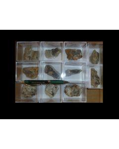 Boulangerite xx, Bottino, Italy, 1 lot of 11 small cabinet size specimen