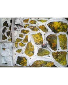 Clinobisvanite; Linka Mine, Potts, Lander Co., NV, USA; HS