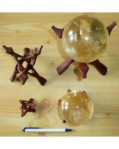Cobra wooden sphere stands, foldable, 10.5 cm, 1 piece