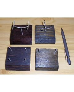 Wooden stand with bending display made of real silver! (4 prong)