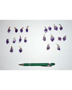 Amethyst-crystal with clip (golden)
