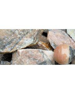 Calcite, orange, fine grained, Madagascar, 1 kg