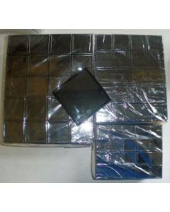Gemstone box, 6x6x2 cm, black, 20 pieces