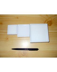Gemstone box, 6x6x2 cm, white, 20 pieces