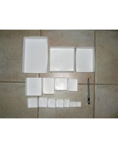 """Fold up boxes SB 15, 3 x 3.5"""", fit 15 to a flat. Original case with 1500 pcs."""