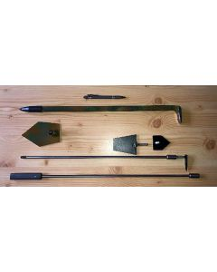 """""""Strahlers"""" tools set for mining pockets: bar, chisle, pick, elongated arm, different points/tips"""