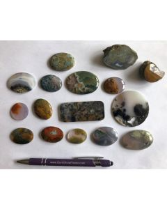 Agate, polished, Armenia, 1 lot of 16 specimen