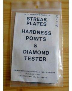 Hanneman set with line panel, hardness pencils and a diamond tester