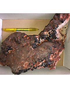 Descloizite crystals on matrix; Tsumeb, Otavi, Namibia; GS