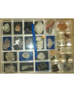 Mixed minerals from Germany, 1 lot of 28 pieces.