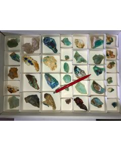 Mixed minerals of high quality, Laurion, Greece, 1 flat (#6)