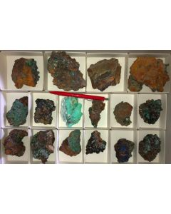 Mixed minerals of high quality, Laurion, Greece, 1 flat (#8)