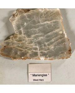 Gypsum (Selenite, gemmy) ; Osterode, Harz, Germany; HS