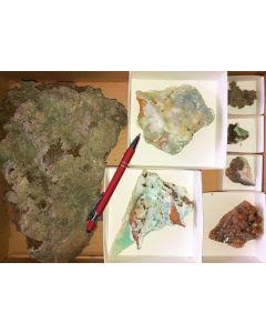 Smithsonite xx, Barbara Mine, Laurion, Greece, 1 flat