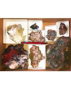 Calcite + Aragonite xx, Laurion, Greece, 1 flat