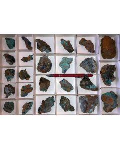Ktenasit, Namuwite xx etc., Serpieri Mine, Laurion, Greece, 1 flat