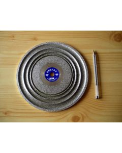 "Cabochon diamond polishing disc 8"", grain 1200"