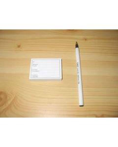 preprinted label pad, location labels