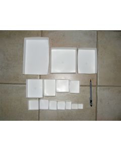 Fold up boxes SB 04, 188 x 125 x 40 mm, fit 4 to a flat, case with 800 pcs.