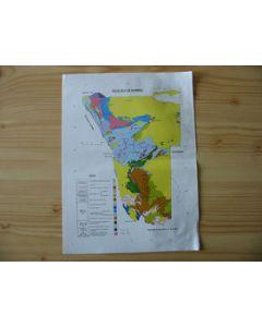 Geologische Karte von Namibia