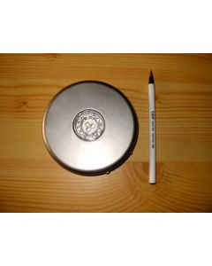 LED base, 15 LED, round, silver, 10 pieces