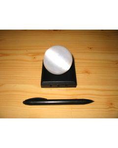 LED Untersetzer, 03 LED, eckig, schwarz, 10 Stück