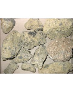 Chaoite in meteorite-impact-rock, Rieskrater, Germany 1 flat