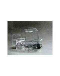 acrylic box, 050 x 050 x 052 mm, 1 piece, white base