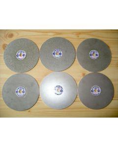 """Diamond lap, galvanic, 8"""" diameter, grain 0180"""