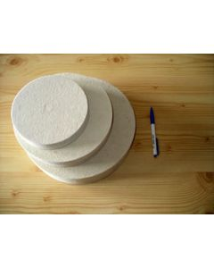 Filzscheibe, weich, 15 cm Durchmesser, 25 mm Stärke