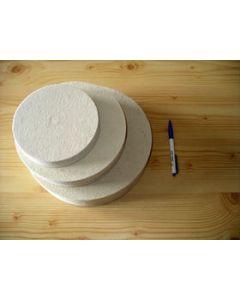 Filzscheibe, weich, 25 cm Durchmesser, 25 mm Stärke