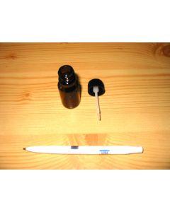 Glasfläschchen mit Abtropfpinsel (Glasflasche), 10 Stück