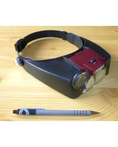 LED-Kopflupe, binokular MIKON (WEEE-Reg.-Nr. DE 75181174)