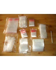 zip lock bags, 120 x 170 mm