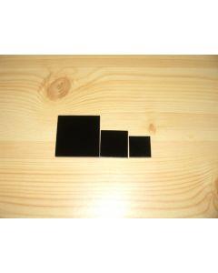 Acrylic squares 2 x 2 x 0.25 inch, black, box of 40 pieces