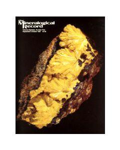 Mineralogical Record Vol. 18, #5 1987