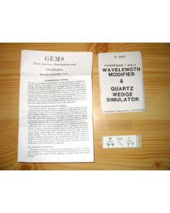 Hanneman wavelength modifier and quartz wedge simulator